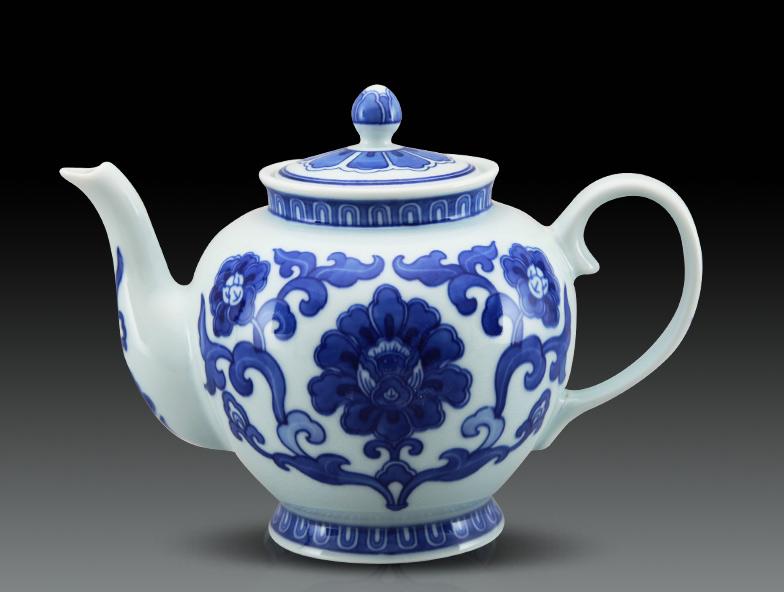 1959青花朵花紋茶壺